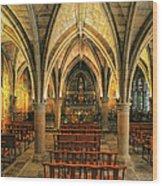 Chapel In Dordogne France Wood Print