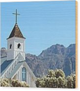 Chapel In Superstitions Wood Print