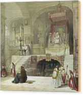 Chapel Of The Annunciation Nazareth Wood Print