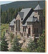 Chapel On The Rock Wood Print