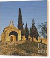 Chapelle D'eygalieres En Provence. Wood Print