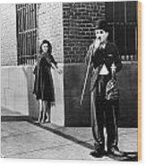 Chaplin: Modern Times, 1936 Wood Print