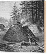 Charcoal Production, 19th Century Wood Print