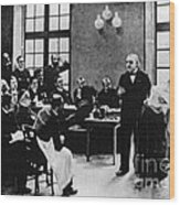 Charcot Demonstrating Hysterical Case Wood Print