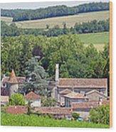 Charente Village Wood Print