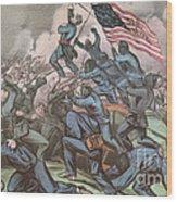 Charge Of The 54th Massachusetts Wood Print