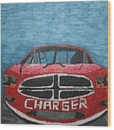 Charger Art By My Son Wood Print