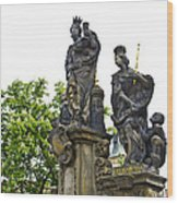 Charles Bridge - Prague Wood Print
