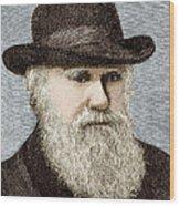 Charles Darwin, British Naturalist Wood Print by Sheila Terry