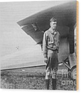 Charles Lindbergh American Aviator Wood Print by Photo Researchers