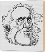 Charles Lyell, Caricature Wood Print by Gary Brown