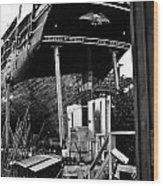 Charles W Morgan Hays  And Ros Clark Ship-lift  Wood Print