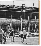 Charles W Morgan Mystic Shiplift Wood Print