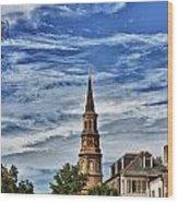 Charleston Church Steeple Wood Print