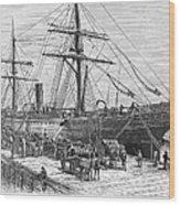 Charleston: Cotton Ship Wood Print