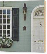 Charleston Doorway - D006767 Wood Print