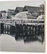 Charleston South Carolina - Vanderhorst Wharf - C 1865 Wood Print