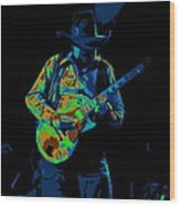 Playing Psychedelic Blues At Winterland In 1975 Wood Print