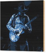 Playing The Blues At Winterland In 1975 Wood Print