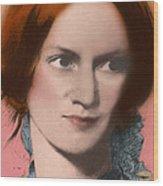 Charlotte Bronte, English Author Wood Print