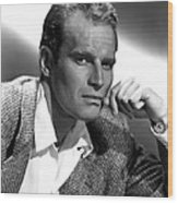 Charlton Heston, 1950s Wood Print