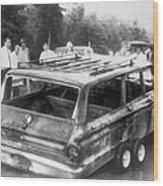 Charred Remains Of Station Wagon Driven Wood Print