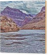 Charting The  Mighty Colorado River Wood Print
