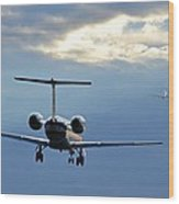 Chasing Jet Fumes Wood Print