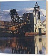 Chatanika Gold Dredge, Alaska Wood Print