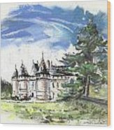 Chateau De Chaumont In France Wood Print