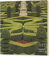 Chateau De Villandry Wood Print