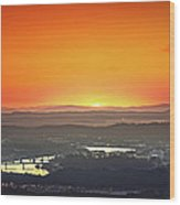 Chattanooga Sunrise Wood Print