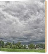 Chautauqua Lake Clouds 8625 Wood Print
