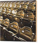 Cheap Seats Wood Print