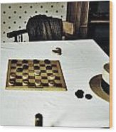 Check Mate Wood Print