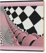 Checkers The Mouse Mechanical Tail Wood Print