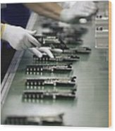 Checking Tv Circuit Board Components Wood Print