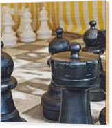 Checkmate Wood Print by Christina Vodas