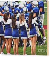 Cheerleaders Wood Print