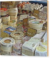 Cheese For Sale Wood Print