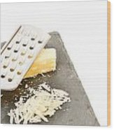 Cheese Grater Wood Print