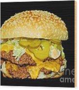 Cheeseburger Wood Print