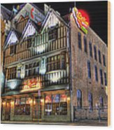 Cheli's Chili Bar Detroit Wood Print by Nicholas  Grunas