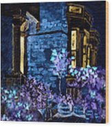 Chelsea Row At Night Wood Print