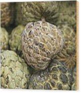 Cherimoya Fruit (annona Cherimola) Wood Print