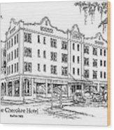 Cherokee Hotel Wood Print