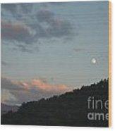 Cherokee Moonrise Wood Print