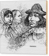Cherokee Tribe. Engraved Portraits Wood Print by Everett