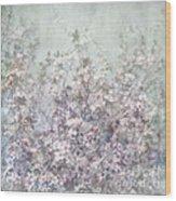 Cherry Blossom Grunge Wood Print