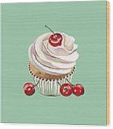 Cherry Cream Wood Print